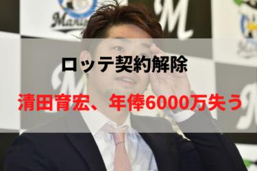 ロッテ清田育宏契約解除した年俸は支払れるの?