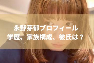 永野芽郁の学歴+プロフィール、家族構成、彼氏はいるの?