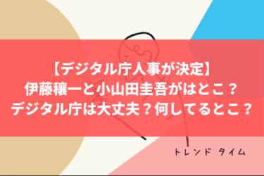 【デジタル庁人事を見送り】伊藤穰一と小山田圭吾がはとこ?デジタル庁は大丈夫?てか、何してるとこ?