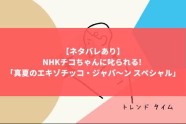 【ネタバレあり】NHKチコちゃんに叱られる! 「真夏のエキゾチッコ・ジャパ〜ン スペシャル」を読み解く!