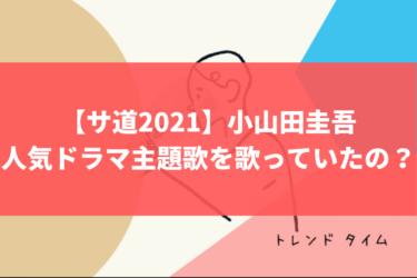 【サ道2021】小山田圭吾はあの人気ドラマ主題歌を歌っていたの?