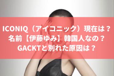 ICONIQ(アイコニック)の現在は?名前が変わって【伊藤ゆみ】国籍は、韓国でGACKTと別れた原因は?